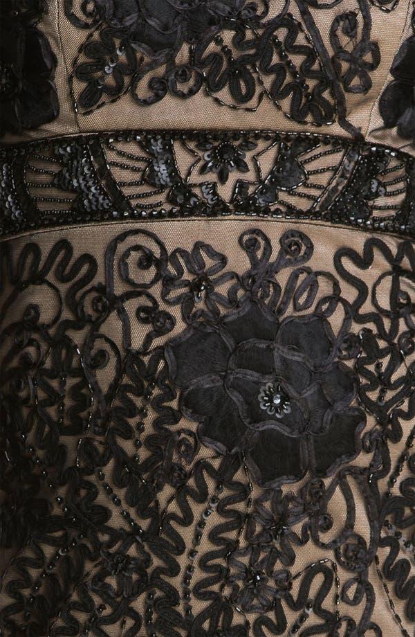 Alternate Image 3  - Sue Wong Strapless Embroidered Mesh Sheath Dress