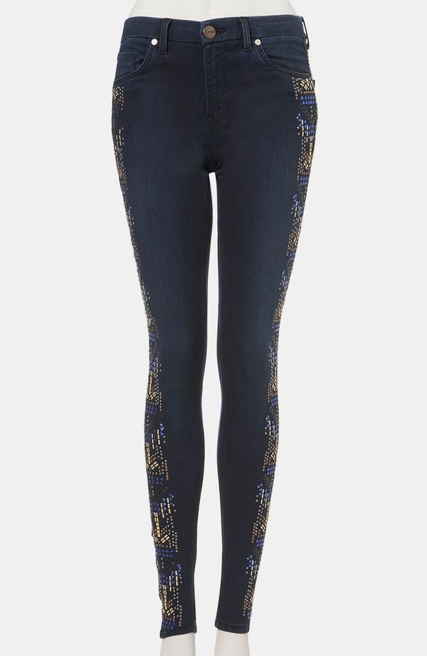 Main Image - Topshop 'Aztec' Studded Jeans