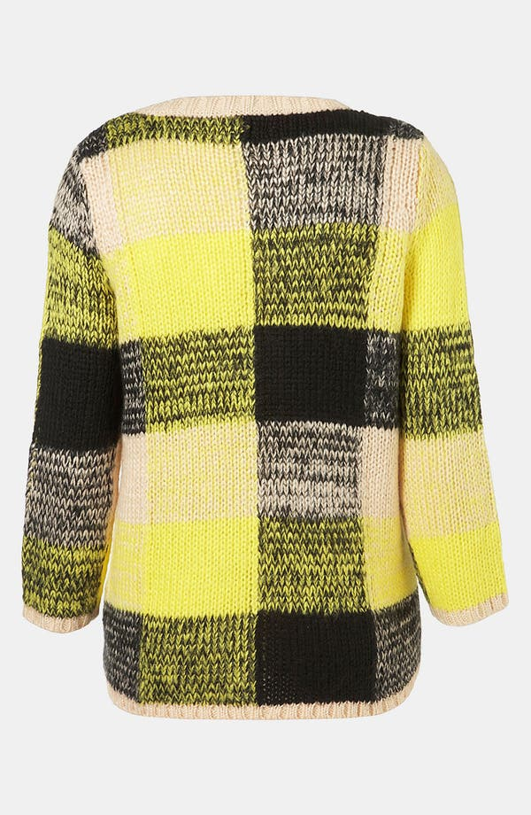 Alternate Image 2  - Topshop Oversized Plaid Sweater