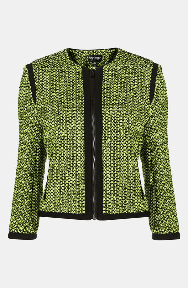 Alternate Image 1 Selected - Topshop Neon Bouclé Jacket