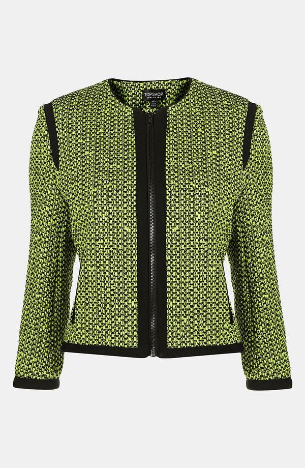 Main Image - Topshop Neon Bouclé Jacket