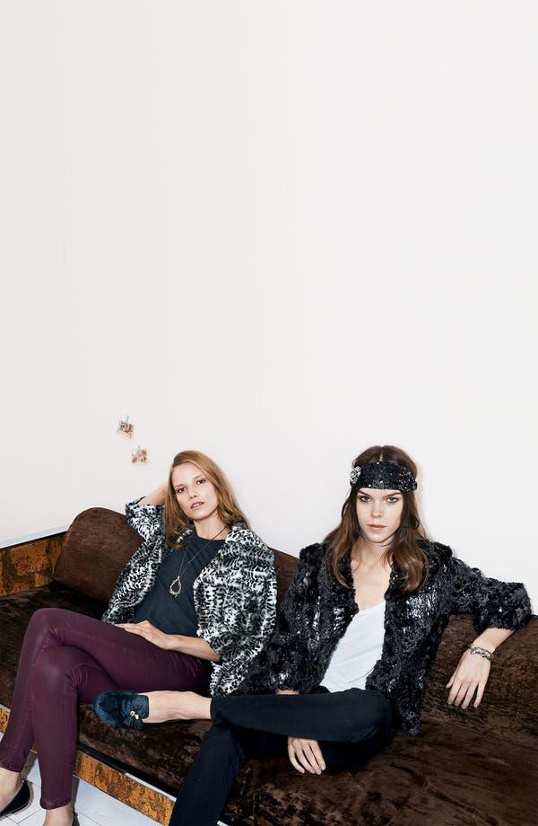 Alternate Image 4  - Collection 'Gilda' Faux Fur Cape Jacket