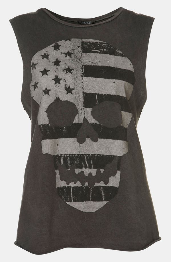 Main Image - Topshop 'Flag Skull' Graphic Tank