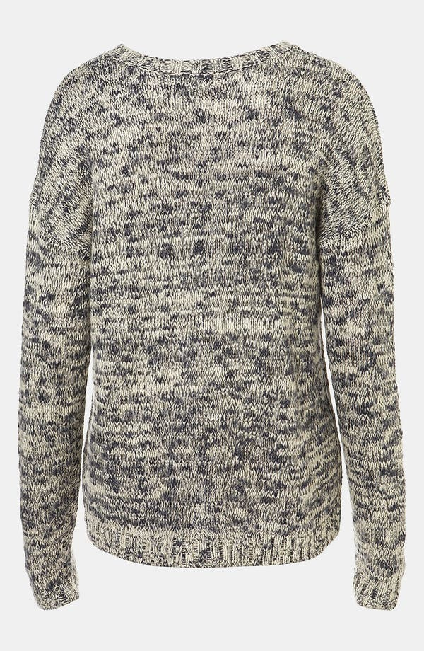 Alternate Image 2  - Topshop 'Tweedy' Drop Stitch Sweater