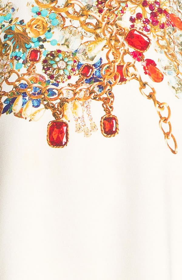Alternate Image 3  - camilla and marc 'Adorned' Jewel Print Draped Dress