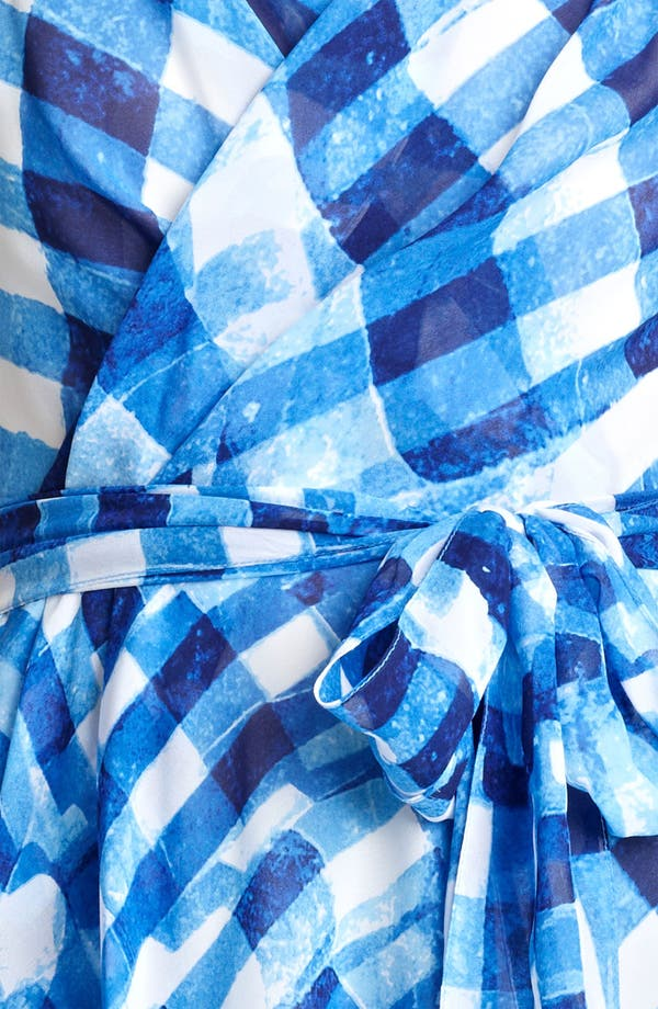 Alternate Image 3  - Oscar de la Renta Tie Front Silk Wrap Blouse