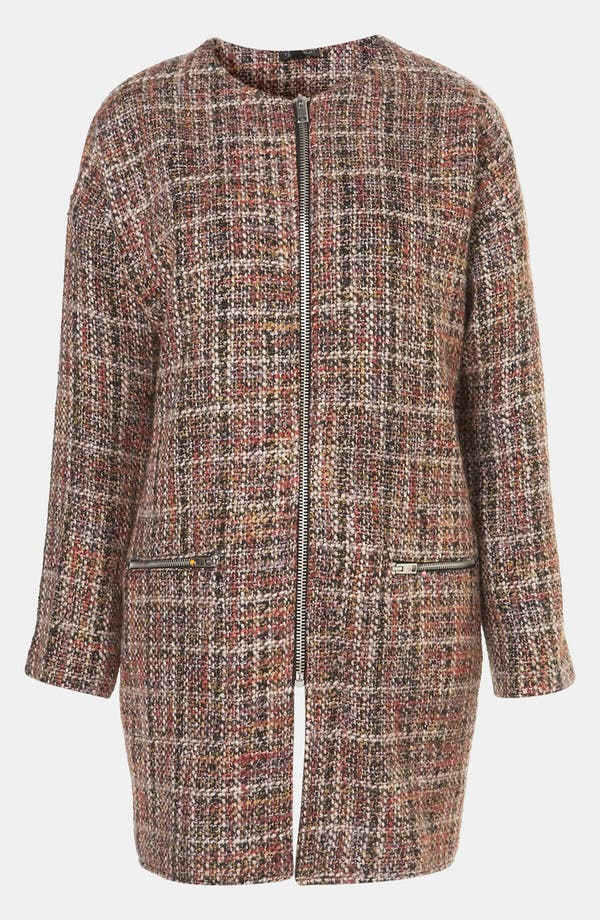 Main Image - Topshop Oversized Plaid Coat