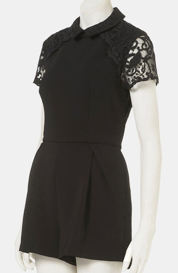 Alternate Image 4  - Topshop Lace Yoke Romper