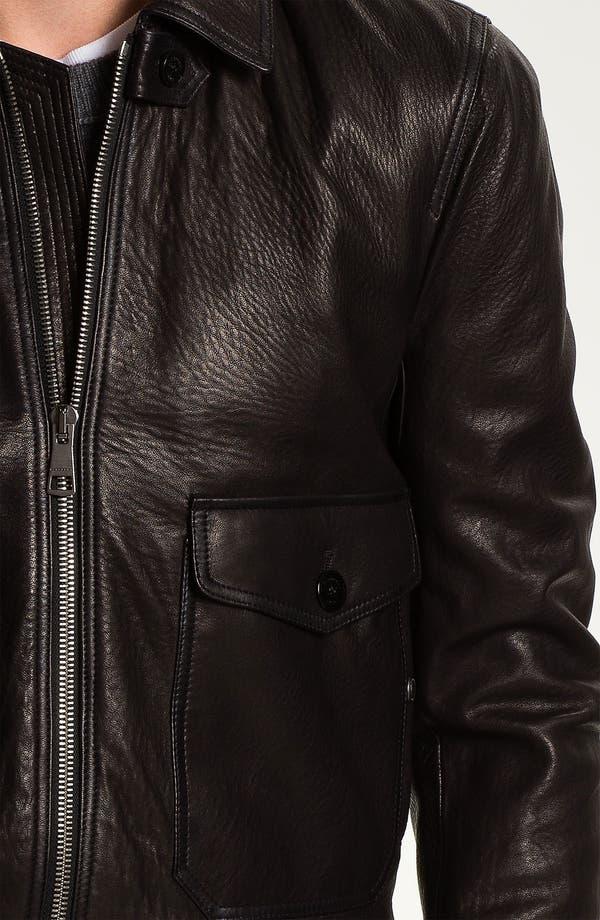 Alternate Image 3  - Burberry Brit Leather Moto Jacket