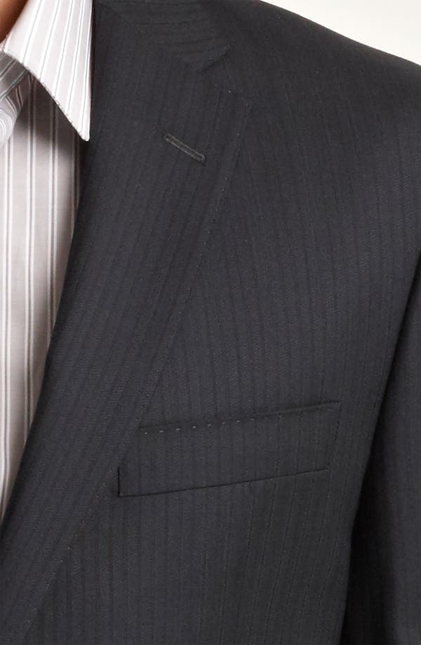 Alternate Image 6  - Versace Trim Fit Stripe Suit