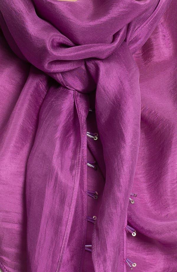 Alternate Image 2  - Eileen Fisher 'Whisper Silk' Beaded Scarf