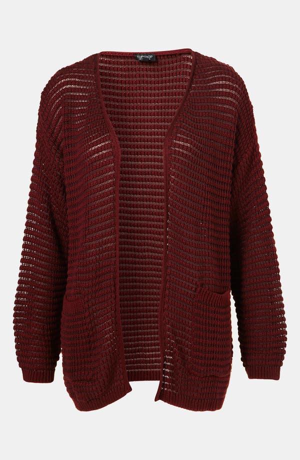 Main Image - Topshop Textured Stitch Cardigan
