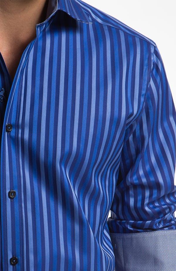 Alternate Image 4  - Bugatchi Uomo Shaped Fit Sport Shirt