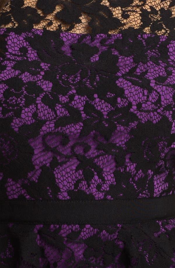Alternate Image 3  - Donna Morgan Lace Overlay Peplum Dress