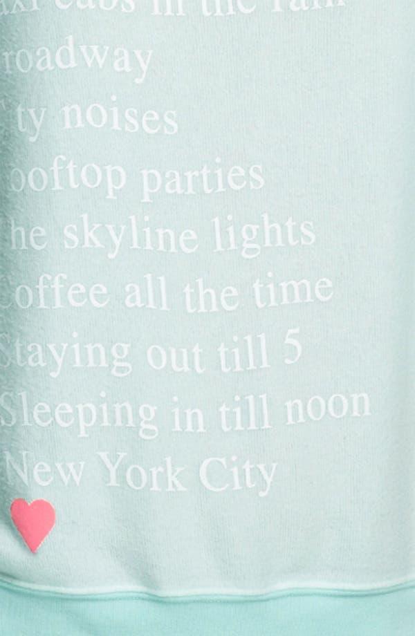 Alternate Image 3  - Wildfox 'Living in New York' Sweatshirt.