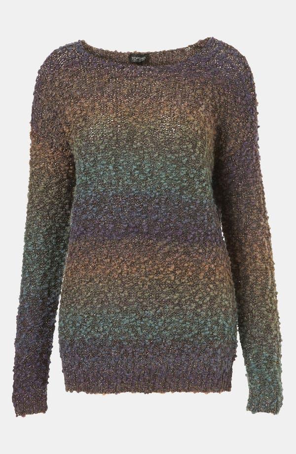 Alternate Image 1 Selected - Topshop Metallic Ombré Sweater