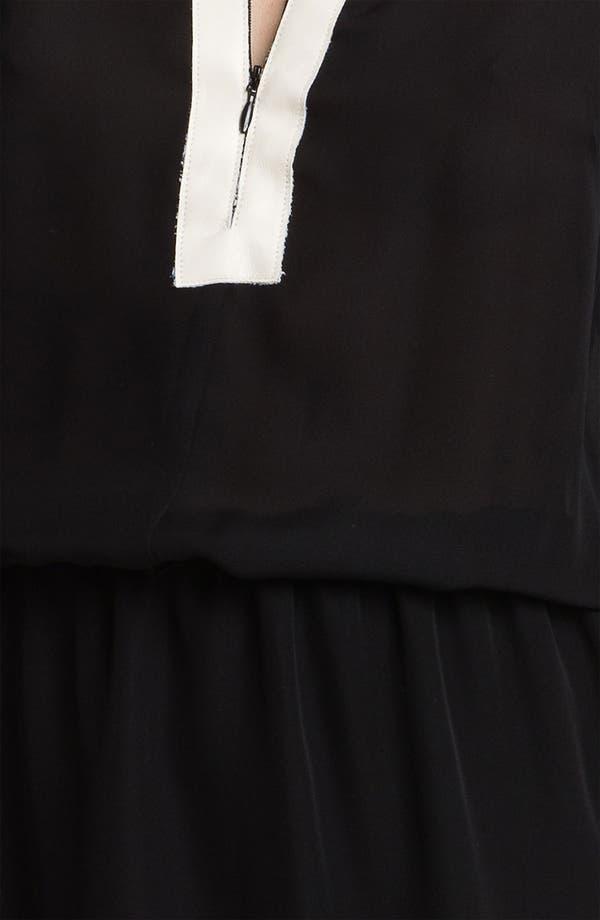 Alternate Image 3  - Parker Zip Neck Colorblock Silk Dress