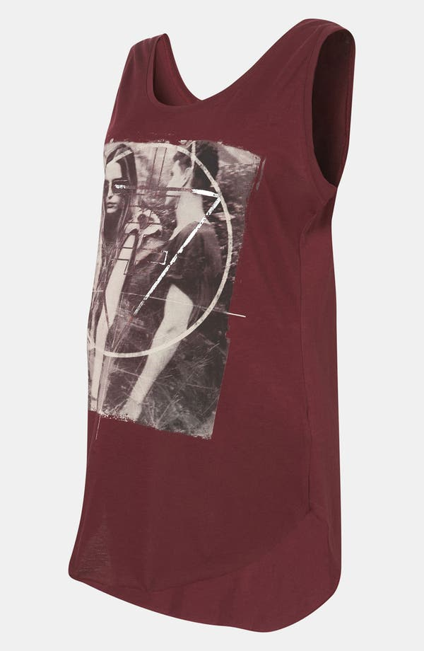 Alternate Image 2  - Topshop 'Symbol Couple' Sleeveless Maternity Tee