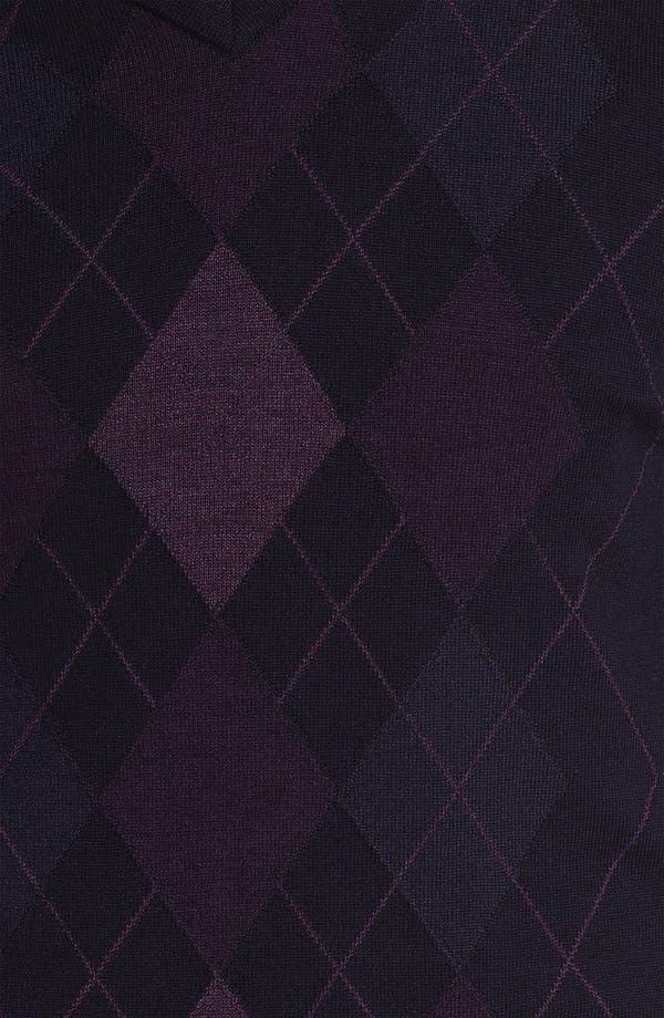 Alternate Image 2  - Nordstrom Argyle V-Neck Sweater