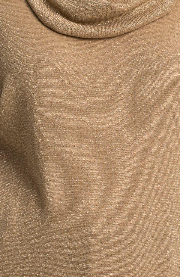 Alternate Image 3  - MICHAEL Michael Kors Metallic Cowl Neck Sweater (Plus)