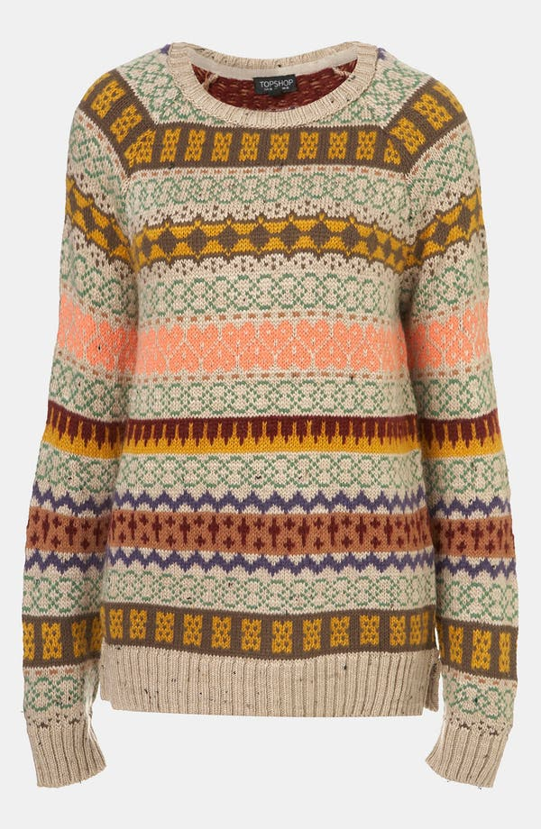 Main Image - Topshop Nordic Knit Sweater