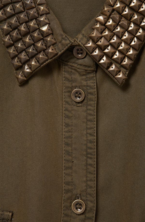 Alternate Image 4  - Topshop Studded Military Maternity Shirt