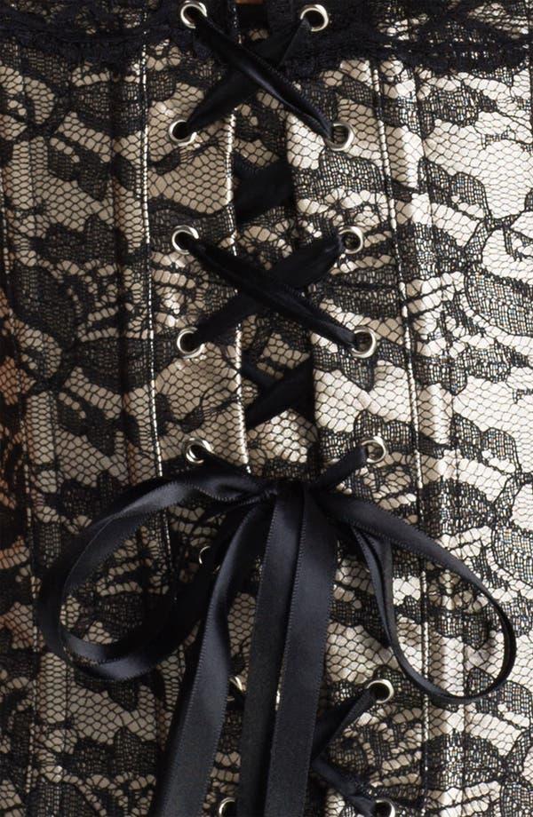 Alternate Image 3  - Felina Lace Overlay Corset