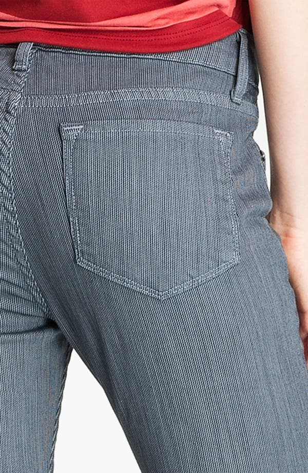 Alternate Image 3  - Blue Essence Pinstripe Skinny Jeans