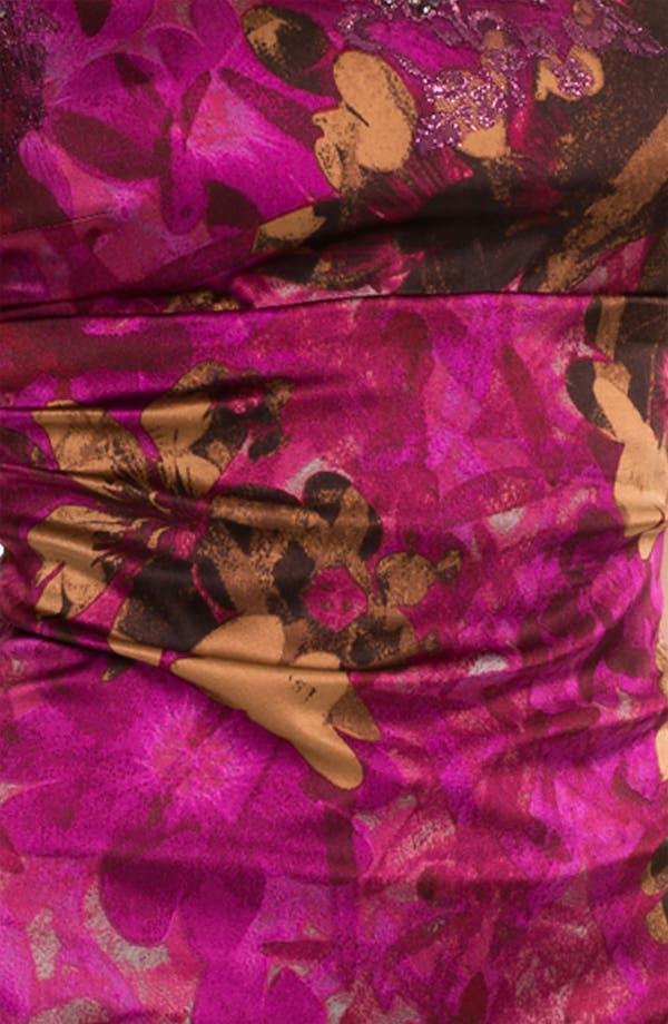 Alternate Image 3  - Kay Unger Print Beaded Yoke Sheath Dress