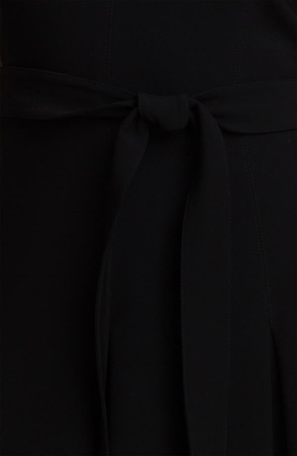 Alternate Image 4  - St. John Collection Pleated Crepe Marocain Dress