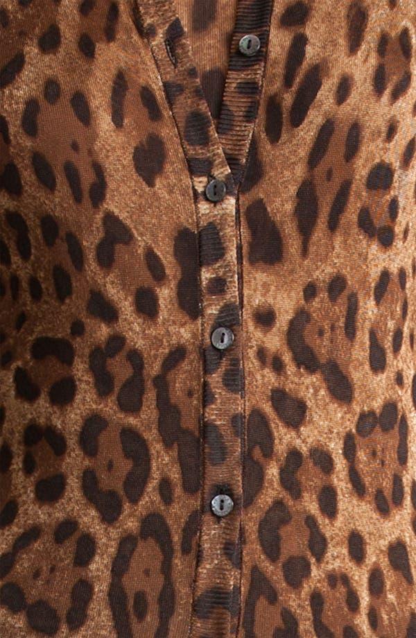 Alternate Image 5  - Dolce&Gabbana Leopard Print Cardigan