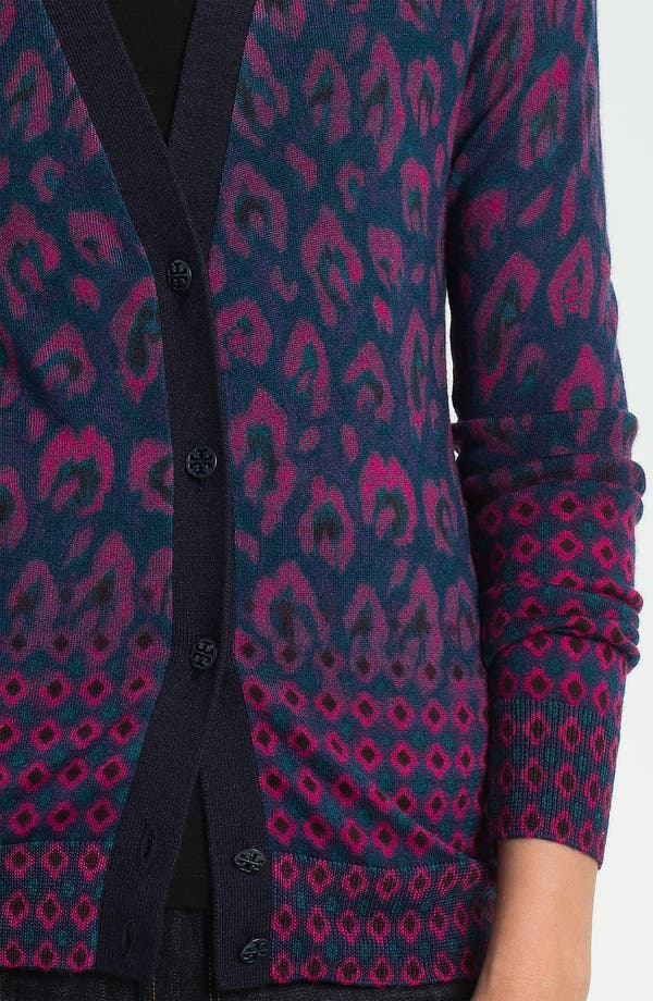 Alternate Image 3  - Tory Burch 'Brady' Print Cardigan