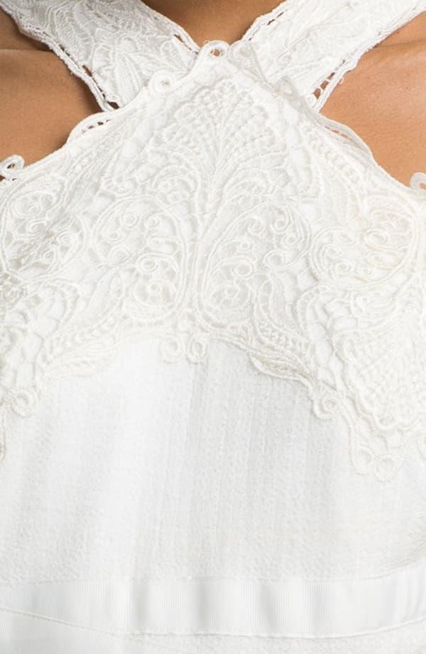 Alternate Image 3  - Tadashi Shoji V-Strap Lace & Tulle Handkerchief Dress