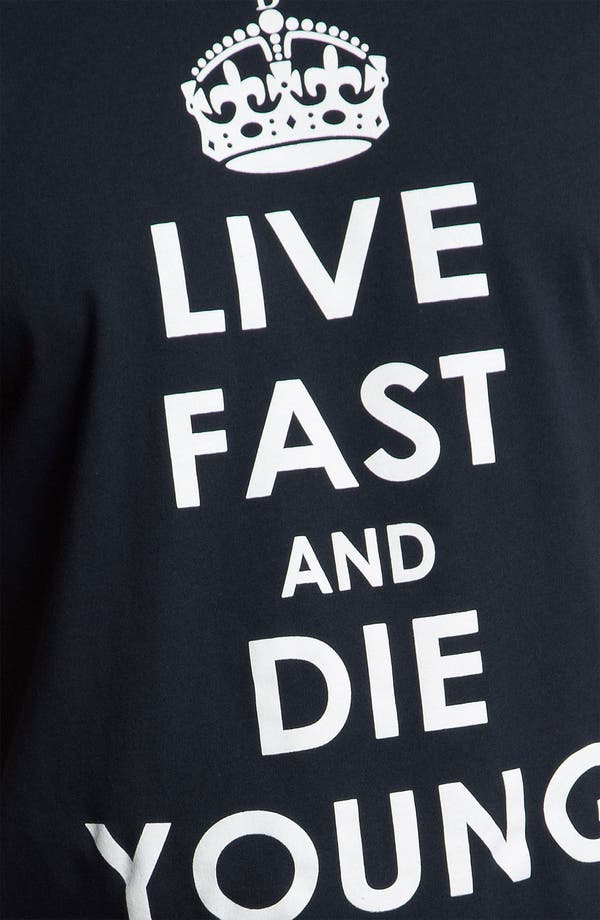 Alternate Image 3  - Kid Dangerous Grime Couture 'Live Fast Die Young' Graphic T-Shirt