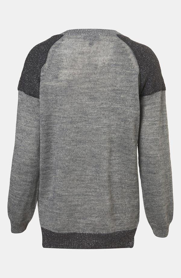 Alternate Image 2  - Topshop Metallic Colorblock Sweater