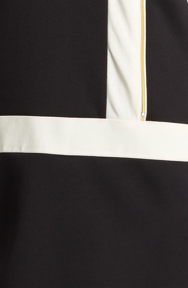 Alternate Image 3  - Ellen Tracy Contrast Trim Front Zip Dress