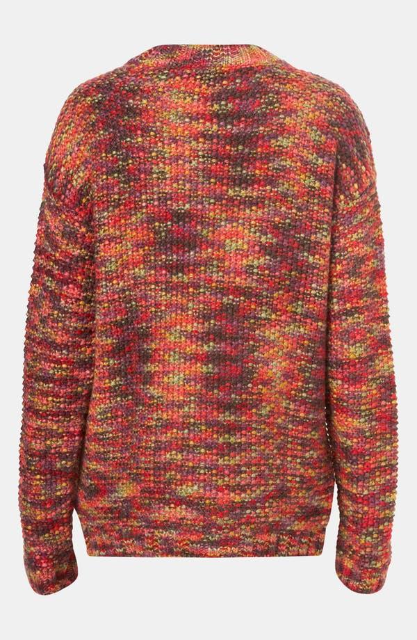 Alternate Image 2  - Topshop Rainbow Tweed Sweater