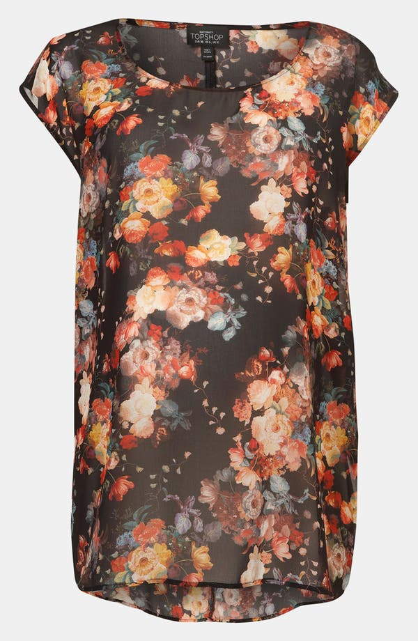 Alternate Image 1 Selected - Topshop 'Romantic' Floral Maternity Tee