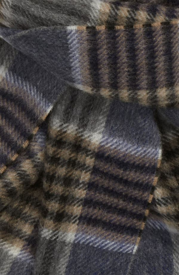 Alternate Image 2  - Chelsey Glen Plaid Cashmere Scarf