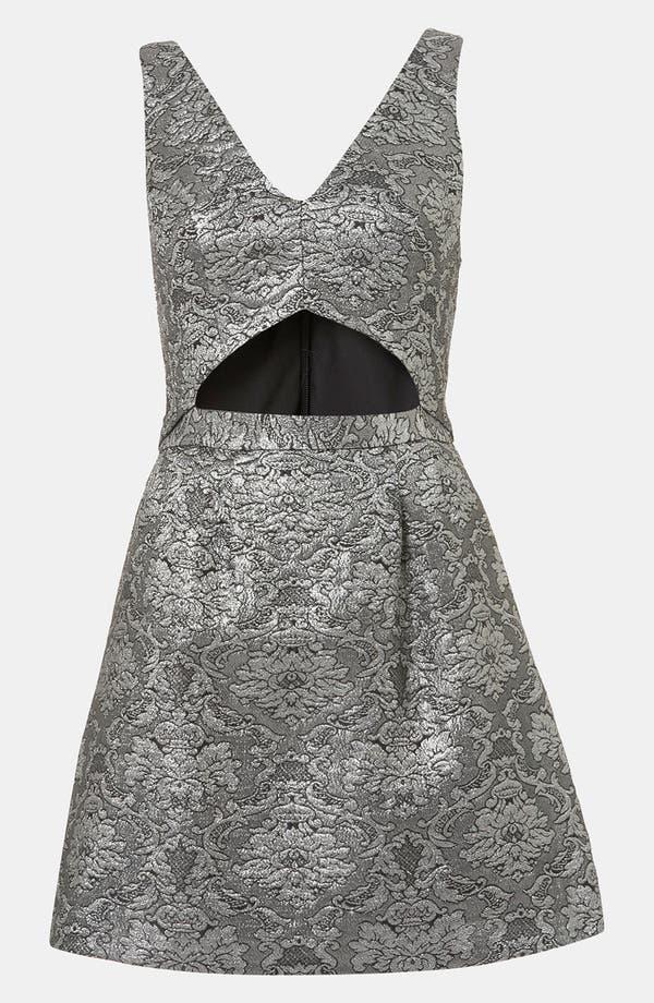 Alternate Image 1 Selected - Topshop Brocade Cutout Dress