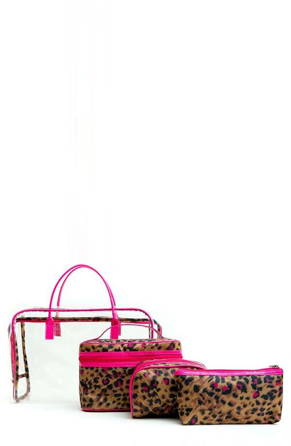 Main Image - Tricoastal Design 'Leopard' Cosmetics Bag Set