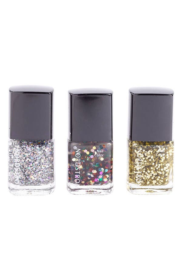 Alternate Image 1 Selected - Nordstrom 'Glitter' Mini Nail Lacquer Trio