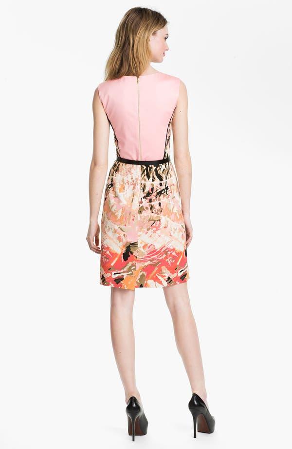 Alternate Image 2  - Tahari Belted Print Sheath Dress