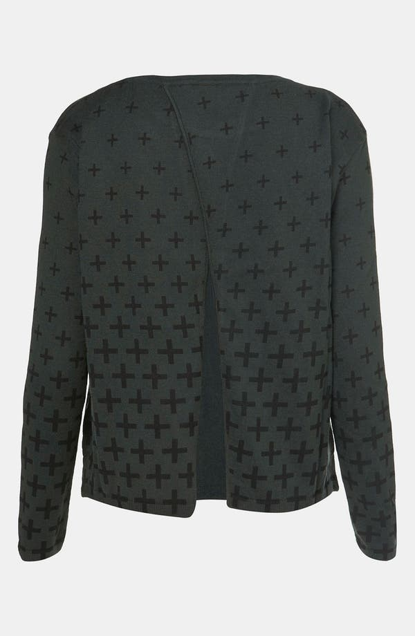 Alternate Image 2  - Topshop Gradient Cross Split Back Sweater
