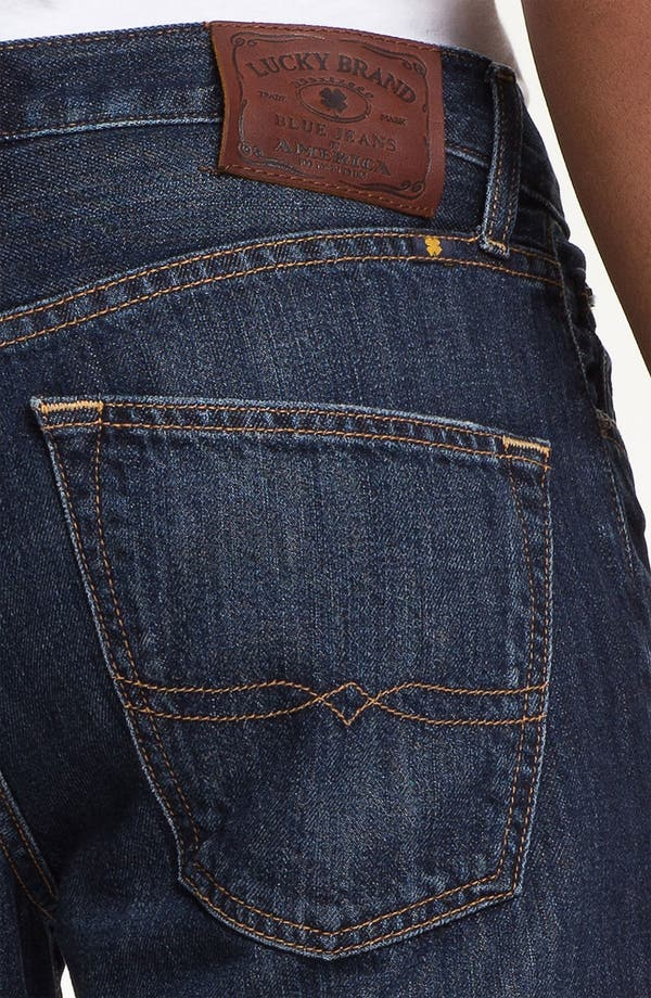Alternate Image 4  - Lucky Brand '221 Original' Straight Leg Jeans (Capistrano)