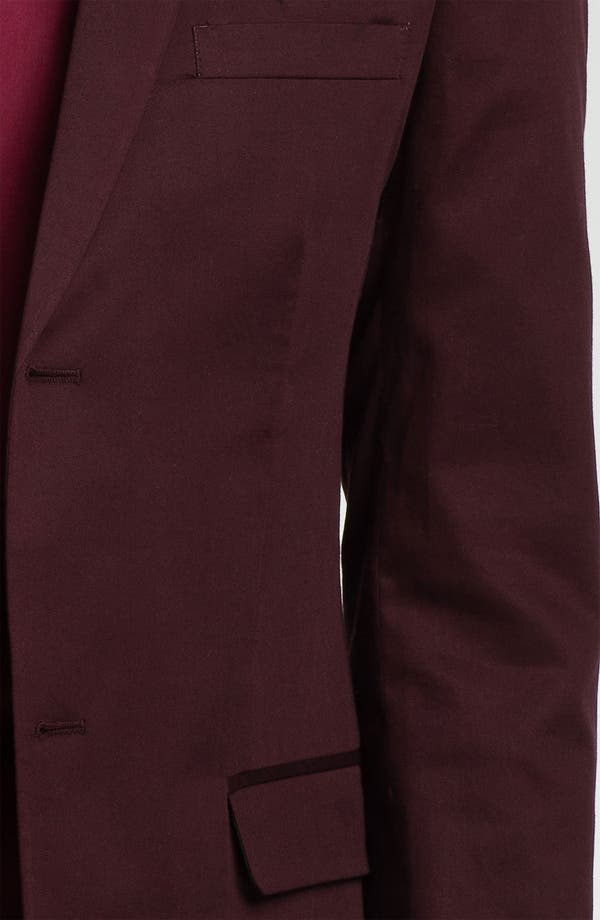 Alternate Image 3  - Topman Skinny Fit Cotton Blazer