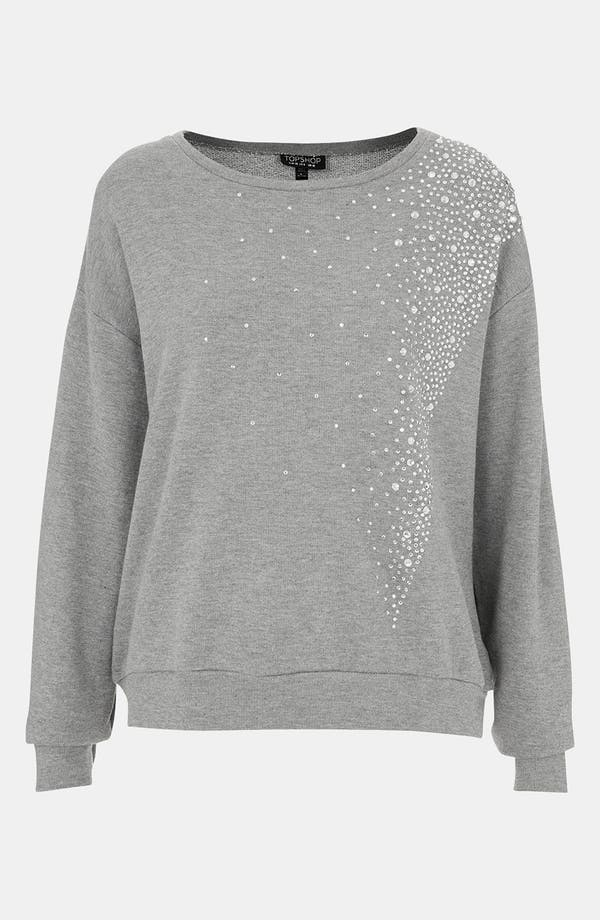 Main Image - Topshop 'Galactic' Rhinestone Embellished Sweatshirt