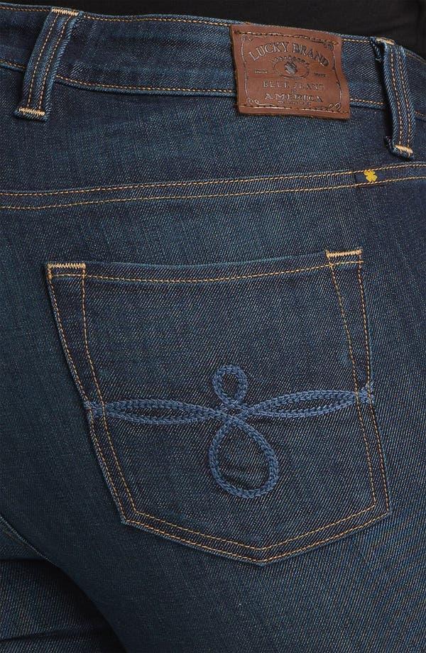Alternate Image 3  - Lucky Brand 'Ginger' Straight Denim Jeans (Plus Size)