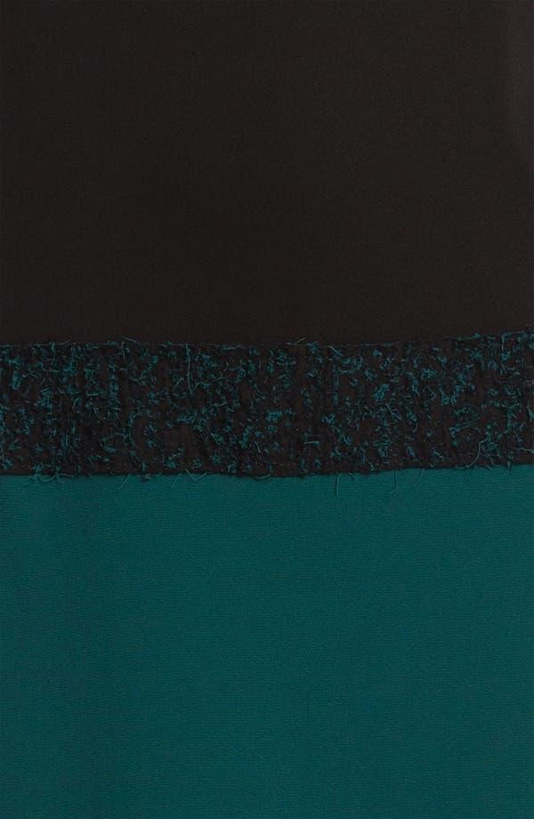 Alternate Image 3  - Nicole Miller Blouson Sleeve Colorblock Crepe Dress
