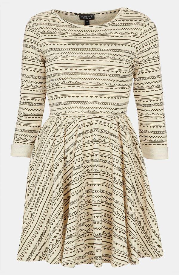 Main Image - Topshop Textured Skater Dress
